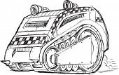 pic of armored car  - Armored Car Vehicle Sketch Vector Illustration Art - JPG