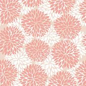 Elegant flowers seamless pattern. Vector illustration in pastel pink colors