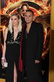 m LOS ANGELES - NOV 17:  Ashlee Simpson, Evan Ross at the The Hunger Games: Mockingjay Part 1 Premiere at the Nokia Theater on November 17, 2014 in Los Angeles, CA