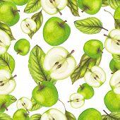 Green apple pattern