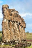 Seven Moai On Easter Island