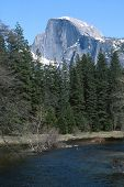 Half Dome from Sentinal Bridge, Yosemite National Park