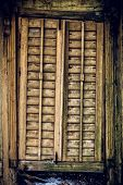Old Wooden Closed Window Texture