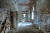Old Corridor In The Sanatorium At Beelitz
