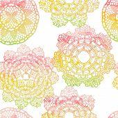 Elegant lacy watercolor doilies