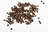 Fresh Coffee Beans Background Texture