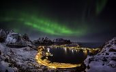 Northern Lights Over Reine, Norway