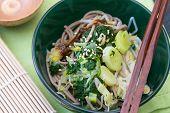 Japanese Spinach Leek Salad