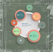Infographic Grunge Textured Background