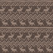 Grunge  Seamless Pattern with deers