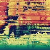 Old, grunge background texture. With different color patterns: blue; green; orange; red; yellow