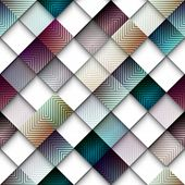Abstract geometric pattern from rhombus