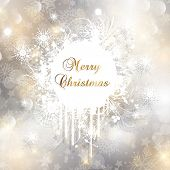 Decorative Christmas background with grunge snowflake design