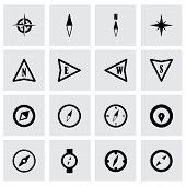 Vector compass icon set