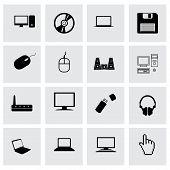 Vector compute icon set
