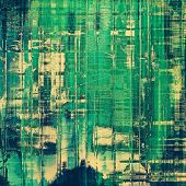 Old and weathered grunge texture. With different color patterns: blue; green; yellow