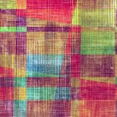 Old Texture. With different color patterns: yellow; green; orange; red; blue; purple (violet)