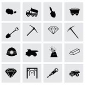 Vector mining icon set