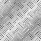 Seamless diamond metal plate