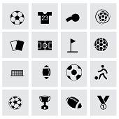 Vector soccer icon set