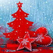 Christmas Tree And Decorations,