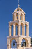Santorini Oia Church Peach Bell Tower