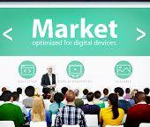Market Web Page Seminar Presentation Concept