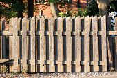 Wooden fence used as notice board