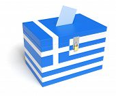 Greek Flag Ballot Box