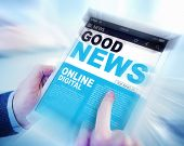 Digital Online Update Good News Concept