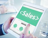 Digital Online Webpage Working Searching Sales Marketing Concept