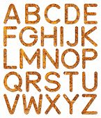 Font Rusty Steel Texture Alphabet A To Z