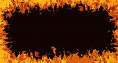 Comic Fire Frame Background