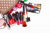 Make Up Bag With Cosmetics
