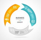 Vector infographics circle options banner 1 2 3