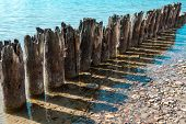 Old Pier With Shadows