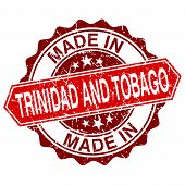Made In Trinidad And Tobago Red Stamp Isolated On White Background