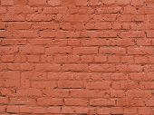 Texture Of Red Brick Wall