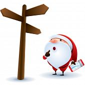 Santa Claus finding location.