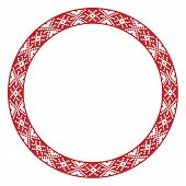 Traditional Slavic Round Embroidery