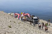 Milestone On Mont Ventoux- Tour De France 2013