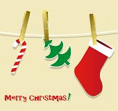 Christmas symbols hanging