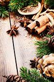 Christmas Setting With Seasonal Spices
