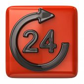 24 hours customer service icon