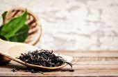 Closeup Of Dry Black Tea