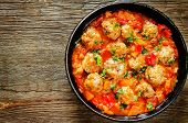 Meatballs Baked With Vegetables
