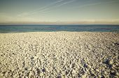 Pebbles beach in the Mediterranean coast in Spain