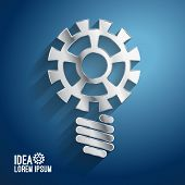 Business ideas concepts featuring light gear