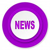 news icon, violet button