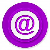 email icon, violet button